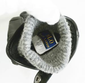 No.4 手袋 グローブ メンズ レザー シープ 羊革 ポリエステル ブラック