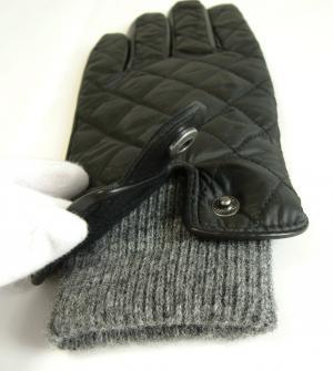 No.5 手袋 グローブ メンズ レザー シープ 羊革 ポリエステル ブラック