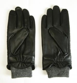 No.2 <訳あり・アウトレット>手袋 グローブ メンズ レザー シープ Sサイズ ブラック