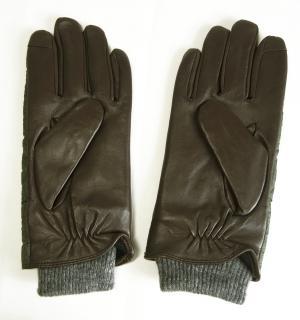 No.2 手袋 グローブ メンズ レザー シープ 羊革 ポリエステル グリーン