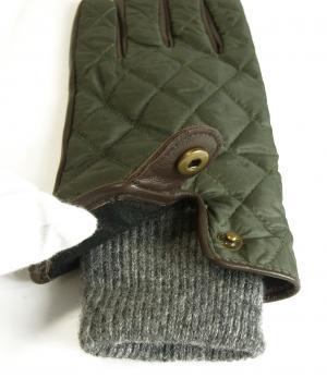No.4 手袋 グローブ メンズ レザー シープ 羊革 ポリエステル グリーン