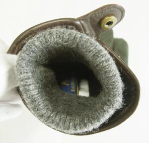 No.5 <訳あり・アウトレット>手袋 グローブ メンズ レザー シープ 羊革 ポリエステル グリーン Lサイズ