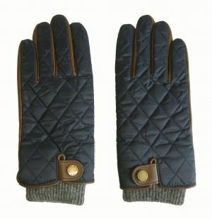 ラルフ ローレン 手袋 グローブ メンズ レザー シープ 羊革 ポリエステル ブルー