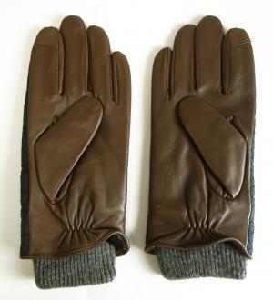 No.2 手袋 グローブ メンズ レザー シープ 羊革 ポリエステル ブルー