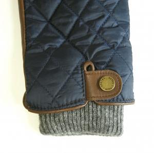 No.3 手袋 グローブ メンズ レザー シープ 羊革 ポリエステル ブルー