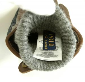 No.4 手袋 グローブ メンズ レザー シープ 羊革 ポリエステル ブルー