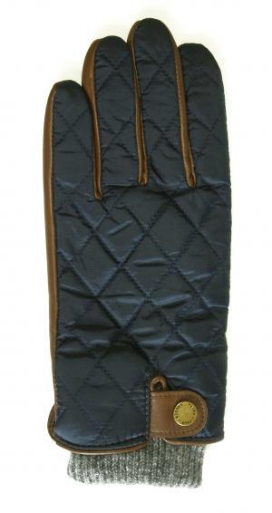 No.5 手袋 グローブ メンズ レザー シープ 羊革 ポリエステル ブルー