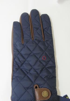 No.6 <訳あり・アウトレット>手袋 グローブ メンズ レザー シープ 羊革 ポリエステル ブルーSサイズ