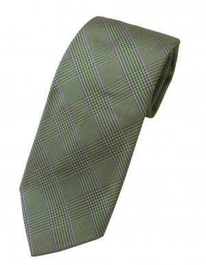 ラルフ ローレン ネクタイ シルク100% チェック柄 ライトグリーン
