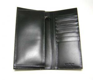 No.3 長財布 マイクロガンチーニモノグラム二つ折(ブラック)