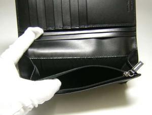 No.6 長財布 マイクロガンチーニモノグラム二つ折(ブラック)