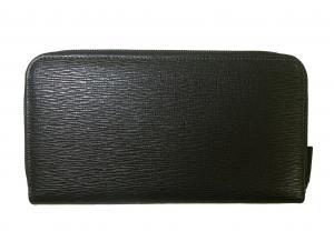 No.2 長財布 ラウンドファスナー (ブラック)*大きめサイズ