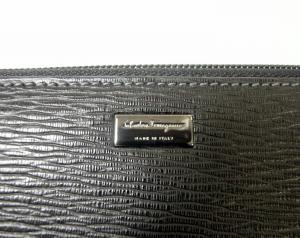 No.3 長財布 ラウンドファスナー (ブラック)*大きめサイズ