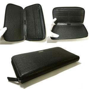 No.4 長財布 ラウンドファスナー (ブラック)*大きめサイズ
