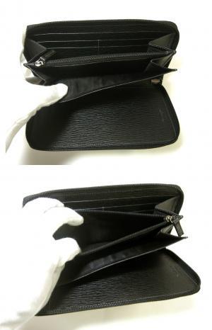 No.5 長財布 ラウンドファスナー (ブラック)*大きめサイズ