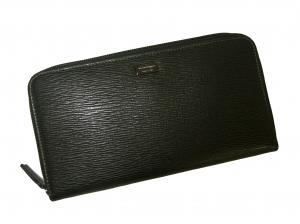 No.7 長財布 ラウンドファスナー (ブラック)*大きめサイズ