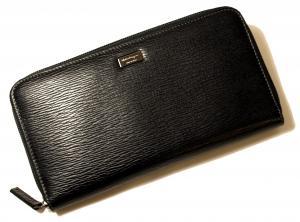 No.8 長財布 ラウンドファスナー (ブラック)*大きめサイズ
