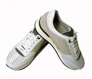 サルヴァトーレフェラガモ スニーカー 靴 メンズ パンチング レザー TERENCE (ホワイト) 8.5(日本サイズ約27cm)