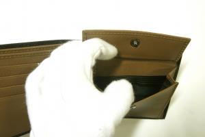 No.6 財布 メンズ バイカラー ガンチーニモノグラム 二つ折(カフェ)
