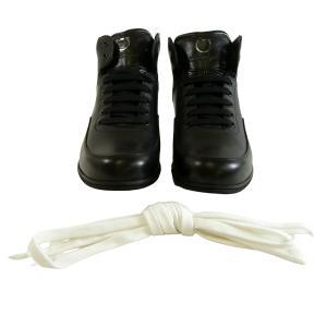 No.8 スニーカー 靴 メンズ ハイカット レザー SANDER (ブラック)