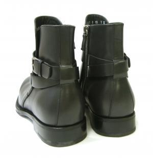 No.4 ブーツ 靴 メンズ レザー ブラック SAVERIO
