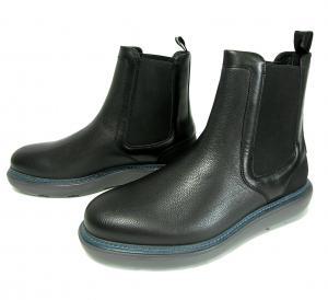 No.10 ブーツ レザー 靴 メンズ サイドゴア ブラック STORM