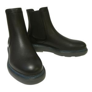 No.2 ブーツ レザー 靴 メンズ サイドゴア ブラック STORM