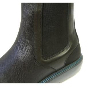 No.8 ブーツ レザー 靴 メンズ サイドゴア ブラック STORM