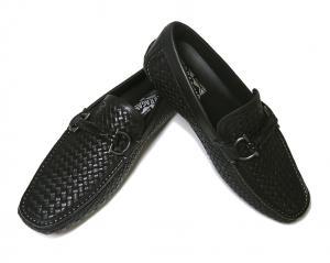 サルヴァトーレフェラガモ 靴 メンズ イントレチャートレザー ROUND (ブラック) 6.5(日本サイズ約25cm EEE) MainPhoto