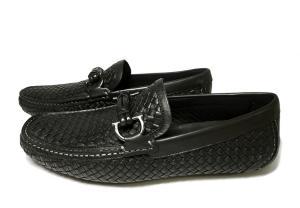 No.3 靴 メンズ イントレチャートレザー ROUND (ブラック) 6.5(日本サイズ約25cm EEE)