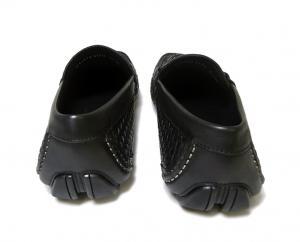 No.4 靴 メンズ イントレチャートレザー ROUND (ブラック) 6.5(日本サイズ約25cm EEE)