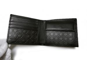 No.4 PVC×ガンチーニモノグラムレザー 二つ折財布(グリジオ)
