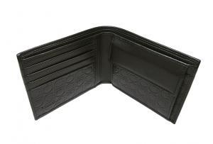 No.5 PVC×ガンチーニモノグラムレザー 二つ折財布(グリジオ)