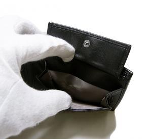 No.7 PVC×ガンチーニモノグラムレザー 二つ折財布(グリジオ)