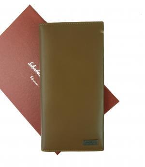 サルヴァトーレフェラガモ 財布 メンズ 二つ折長財布(ナチュラルバイソン)