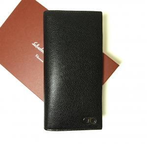 サルヴァトーレフェラガモ 長財布 メンズ 二つ折 カーフ カード大容量 (ブラック)