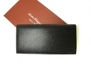 No.2 長財布 メンズ 二つ折 カーフ カード大容量 (ブラック)