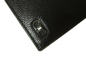 No.3 長財布 メンズ 二つ折 カーフ カード大容量 (ブラック)
