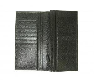 No.5 長財布 メンズ 二つ折 カーフ カード大容量 (ブラック)