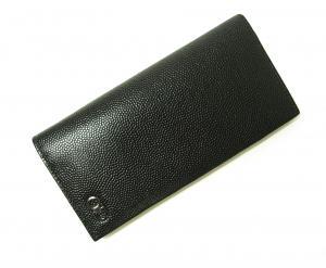 No.6 長財布 メンズ 二つ折 カーフ カード大容量 (ブラック)