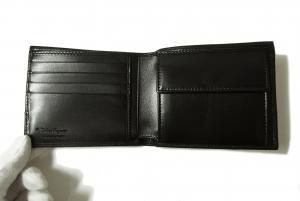 No.3 財布 メンズ 二つ折(ブラック)