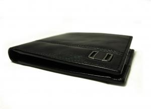No.6 財布 メンズ 二つ折(ブラック)