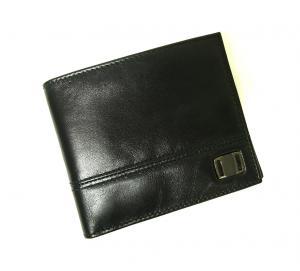No.7 財布 メンズ 二つ折(ブラック)
