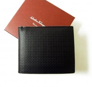 サルヴァトーレフェラガモ 財布 メンズ マイクロ ガンチーニ モノグラム