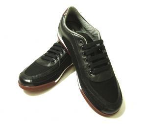 サルヴァトーレフェラガモ スニーカー 靴 メンズ メッシュ ファブリック PORTOS (ブラック) 7.5(日本サイズ約26cm)