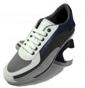 No.10 スニーカー 靴  メンズ メッシュ ファブリック PORTOS (ホワイト)
