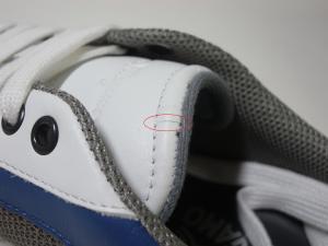 No.11  <訳あり・アウトレット>スニーカー 靴  メッシュ ファブリック PORTOS (ホワイト)7.5サイズ