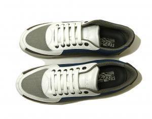 No.2  <訳あり・アウトレット>スニーカー 靴  メッシュ ファブリック PORTOS (ホワイト)7.5サイズ