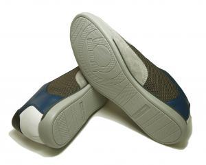 No.5  <訳あり・アウトレット>スニーカー 靴  メッシュ ファブリック PORTOS (ホワイト)7.5サイズ