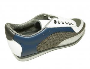 No.6  <訳あり・アウトレット>スニーカー 靴  メッシュ ファブリック PORTOS (ホワイト)7.5サイズ